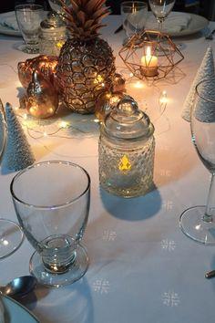 Table de Noël cuivrée