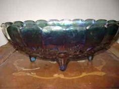 CARNIVAL GLASS FRUIT BOWL - $20
