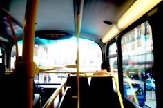 Inside a Double Decker Bus, London, Printable Photography, Poster.