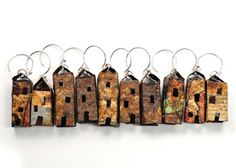 Found metal house shape earrings.  How cool are these!!!