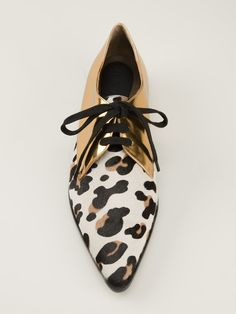 Shop MARNI contrast lace up shoes from Farfetch