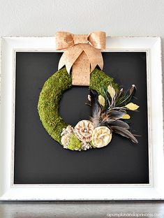 Pretty! Moss and Feather Wreath A Pumpkin and a Princess