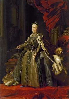 Alexander Roslin's 18th century portrait of Russia's Catherine the Great.