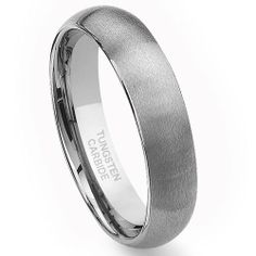Tungsten Carbide 6mm Brushed Dome Wedding Band Ring Size 6-15 Titanium Kay. $54.99