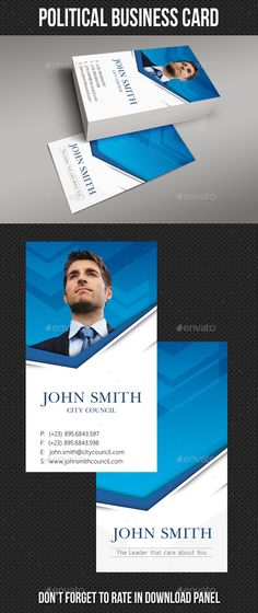 Political Business Card Template PSD #design Download: http://graphicriver.net/item/political-business-card-template/13154693?ref=ksioks