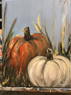 Pretty acrylic painting to try to DIY. Fall Canvas Painting, Autumn Painting, Autumn Art, Canvas Art, Fall Paintings, Canvas Paintings, Pumpkin Art, Pumpkin Canvas, Halloween Painting