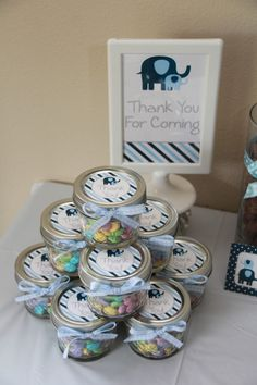Elephant Baby Shower Favors by 5M Creations
