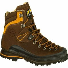 La Sportiva Men's Pamir Hiking Boot,Brown Leather,42 EU/9 M US Upper: 2.8mm greased Idro-Perwanger leather; Lining: Leather. Insole: 7mm Trangoflex. Midsole: PU Lite/EVA. Sole: Vibram® PU Lite/EVASasslong with Impact Brake System™. Weight: 31.0 oz/882 g.  #LaSportiva #Shoes