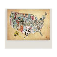 X Hydrographica Map Antique Canvas Wall Art Liked - Us map wall decor