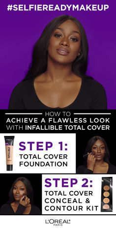 Get flawless full coverage makeup with Total Cover foundation and Conceal & Contour Kit.