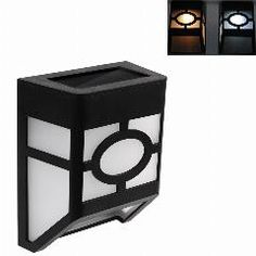 [ $40 OFF ] Solar Powered Wall Mount Led Light Outdoor Garden Path Landscape Fence Yard Lamp