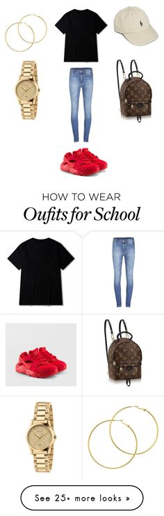 """""""Untitled #188"""" by ilysaraa on Polyvore featuring Polo Ralph Lauren, Cheap Monday, NIKE, Gucci and Melissa Odabash"""