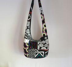 Patchwork Crazy Quilt Hobo Bag Boho Bag Geometric by 2LeftHandz, $25.00