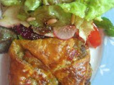 Receita Prato Principal : Folhados de legumes com salada de alfaces, maçã e mel de Filipefcosta