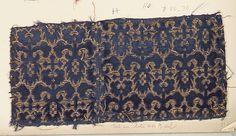 Fragment Date: late 16th century Culture: Italian Medium: Silk, metal thread Dimensions: Overall: 5 1/4 x 10 3/4 in. (13.3 x 27.3 cm) Classification: Textiles-Velvets