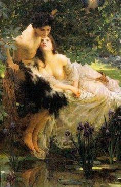 Renaissance Kunst, Renaissance Paintings, Romantic Paintings, Classic Paintings, Victorian Paintings, Victorian Art, Art Romantique, Rennaissance Art, Art Amour
