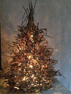 lit twigs