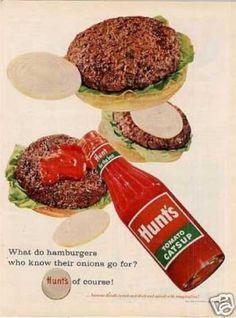 Items similar to Hunt's Tomato Catsup Advertisement - LIFE Magazine Ad - Sheet - Original - on Etsy Vintage Ads, Vintage Prints, Vintage Posters, Vintage Food, Retro Ads, Vintage Stuff, Retro Recipes, Vintage Recipes, Types Of Salad