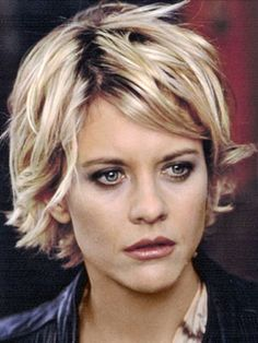 Meg Ryan set the trend years ago for short layered hairstyles. See her many different styles, including a longer version of the Meg Ryan Hairstyles. Meg Ryan Hairstyles, Shaggy Bob Hairstyles, Shaggy Short Hair, Short Blonde, Celebrity Hairstyles, Ladies Short Hairstyles, Meg Ryan Haircuts, Shaggy Pixie, Celebrity Short Hair