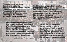 """""""MCMXIV"""" by Philip Larkin"""