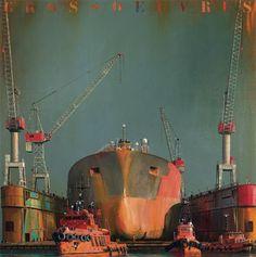 Galerie de l'Estuaire - Exposition Dirk Verdoorn Art Pictures, Photos, Ship Drawing, Abandoned Ships, Nautical Art, Tug Boats, Traditional Paintings, Ship Art, Vintage Travel