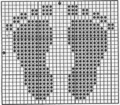 For a knitting pattern. Good for filet crochet. Good for cross stitch. Baby Knitting Patterns, Knitting Charts, Knitting Stitches, Free Knitting, Cross Stitch Baby, Cross Stitch Charts, Cross Stitch Designs, Baby Cross Stitch Patterns, Cross Patterns
