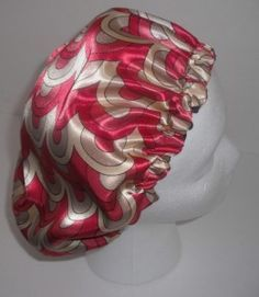 Satin cap sewing tutorial. Easy project~ Good for sleeping in if you have long hair or like to keep your hair in place.