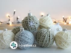 klubíčka na vánoční stromeček Christmas Diy, Christmas Ornaments, Holiday Decor, Creative, Crafts, Inspiration, Home Decor, Biblical Inspiration, Manualidades