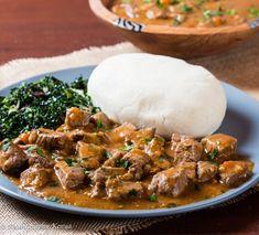 Classic Kenyan Beef Stew and Ugali - Pika Chakula - Halima Samba - African Food South African Recipes, Ethnic Recipes, Kenyan Recipes, Kenyan Dishes Recipe, Gujarati Recipes, Kenyan Beef Stew Recipe, Zambian Food, Kenya Food, Beef Recipes