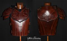 Light one-shoulder armor, with swirls designs.