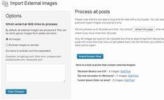 Import external images in WordPress