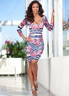 Lace Floral Print Dress $36