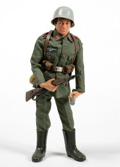 Action Man figure dressed as a German Stormtrooper, licensed from Hasbro's popular American toy GI Joe, United Kingdom, by Palitoy (manufactured in British Hong Kong). From the Victoria and Albert Museum of Childhood's permanent collection. Museum Of Childhood, My Childhood Memories, Childhood Toys, Gi Joe, Retro Toys, Vintage Toys, 1960s Toys, Military Action Figures, V & A Museum
