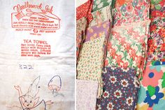 Some sacks even came with instructions and suggestions printed right on them — in washable ink, of course.