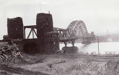 "The last bridge over the Rhine, the Ludendorff Bridge at Remagen, just after the US 9th army captured it on 7 March 1945 [[MORE]] "" The Battle of Remagen during the Allied invasion of Germany resulted..."
