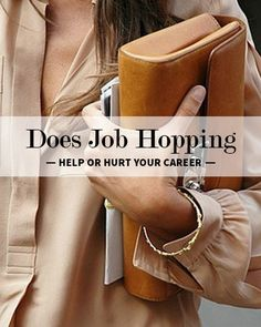 There are many benefits to job hopping, but there are also cases when it can negatively impact your career. #jobsearch