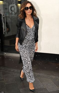 Dressed to impress: Despite the fact that she was making a radio appearance, Myleene Klass...