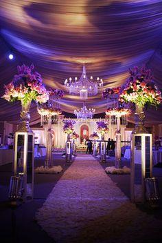 Purple Inspired Wedding With Beautiful Aisle