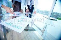 Analyzing documents Royalty Free Stock Photo