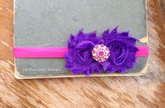 PINK AND PURPLE Headband Baby Headband Infant by LilPinkGoose