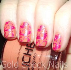Stamping Colour: Konad Special Polish - Psyche Pink Image Plate: Cheeky CH46