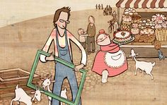 Kleine Man & Grote Jan  Children's book written and illustrated by Fran Cózar & Feikje Boertjens  www.kleineman.com