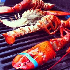 Lobster on the grill.