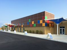 """Success Academy South Bend - The new exterior of Success Academy : Educational Facility Design using Precast Concrete & Conventional Steel Construction - 105,000 sq. ft. / Two-stories - Design-Build """"Fast Track"""" Adaptive Renovation : Architecture 