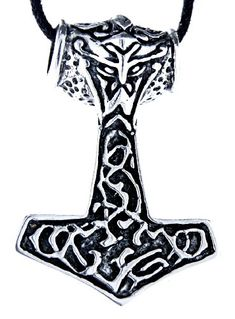 Large Thor's Hammer Pendant 925ΒSterling Silver No. 77  Price Β£74.44