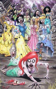 Disney princess zombies... That's just creepy.