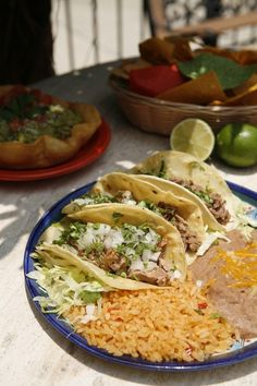 """Authentic Mexican tacos, beans and rice at Mi Pueblo Mexican restaurant Sarasota and Venice, Florida. Voted """"Best Mexican Restaurant"""" for many years. 
