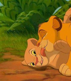 KISSES simba and nala the lion king: