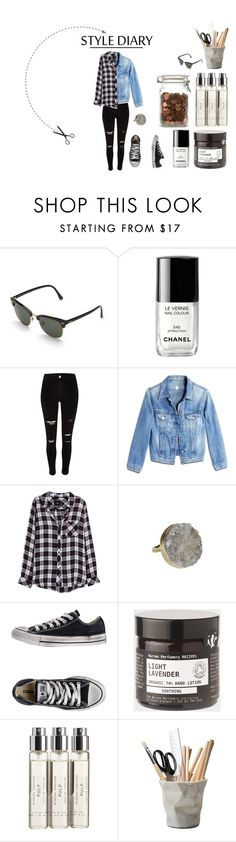 """Just a rebel set"" by barbararodriges on Polyvore featuring Rayban, Chanel, River Island, M.i.h Jeans, Rails, Gara Danielle, Converse, Toast, Byredo and ESSEY"