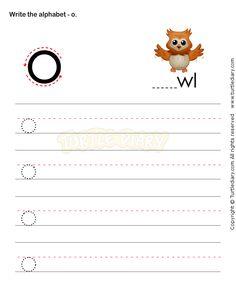 Small Letters O - esl-efl Worksheets - kindergarten Worksheets